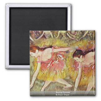 Bowing Dancers By Edgar Degas Magnet