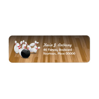 Bowl a Strike Return Address Return Address Label