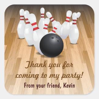 Bowl a Strike Thank You Bowling Party Sticker