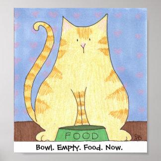 Bowl. Empty. Food. Now. Print