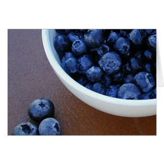 Bowl o' Blueberries card
