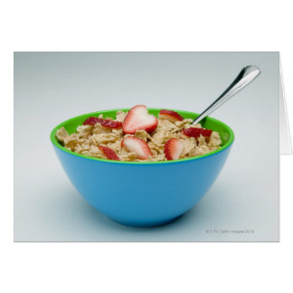 Bowl of cereal card