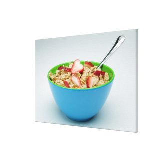 Bowl of cereal gallery wrap canvas