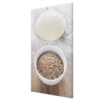 Bowl of Cereal Grain and Mound of Dough Canvas Prints