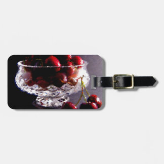 Bowl of Cherries Abstract Luggage Tag