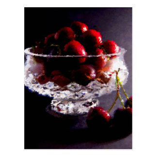 Bowl of Cherries Abstract Postcard