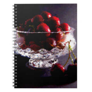 Bowl of Cherries Abstract Spiral Notebook