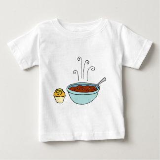 Bowl of chili and cornbread muffin tshirts