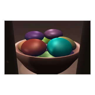 Bowl of Colors Poster