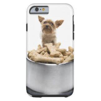 Bowl of dog treats by Yorkshire Terrier Tough iPhone 6 Case