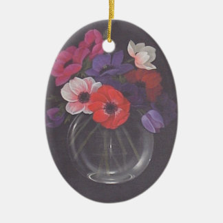 Bowl of flowers personalized wall hanging ornament