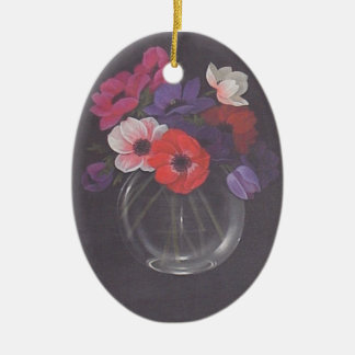 Bowl of flowers wall hanging ornament