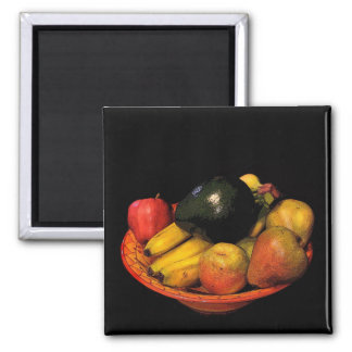 Bowl of Fruit Square Magnet
