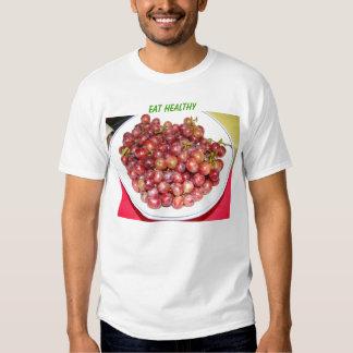 Bowl Of Grapes, Eat Healthy Tee Shirts