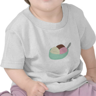 Bowl Of Ice Cream Tee Shirts
