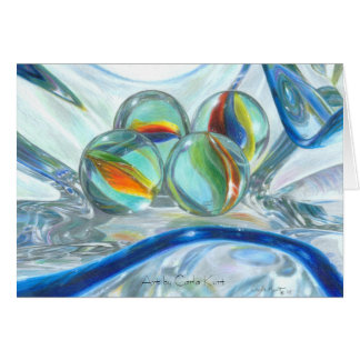 Bowl of Marbles Greeting Card