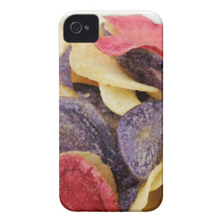Bowl of Mixed Potato Chips Close-Up iPhone 4 Case-Mate Cases