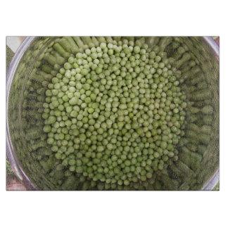 Bowl of Peas Glass Cutting Board