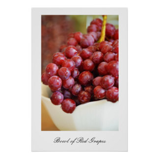 Bowl of Red Grapes Print