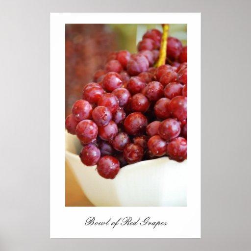 Bowl of Red Grapes Print