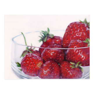 Bowl of Strawberries Postcard