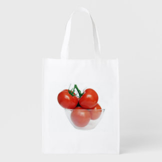 bowl of tomatoes reusable grocery bag