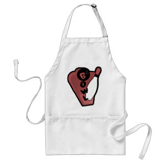 Bowl Pin Red Retro Bowling Sign Adult Apron