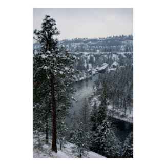BOWL & PITCHER SPOKANE RIVER WINTER POSTER