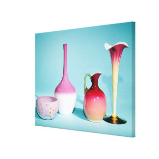 Bowl, Vases and Jug, late 19th century Gallery Wrapped Canvas