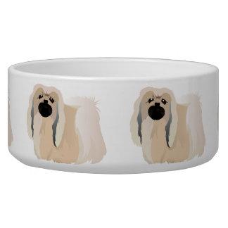 Bowl with pekingese