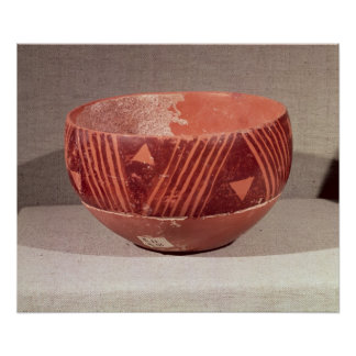 Bowl with triangular pattern, from Banpu, Posters