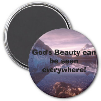 Bowlake2, God's Beauty can be seen everywhere! 7.5 Cm Round Magnet