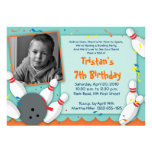 """""""Bowled Over"""" Party Invitation - Boys"""