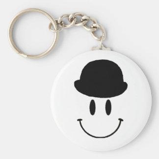 Bowler Hat Basic Round Button Key Ring
