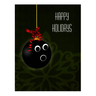 bowler hOLIDAY greetings Postcard