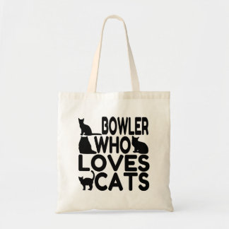Bowler Who Loves Cats Tote Bag