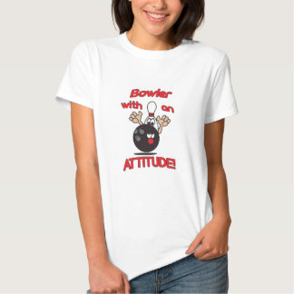 Bowler with an Attitude Bowling Pin   Humor T Shirt