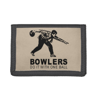 BOWLERS DO IT WITH ONE BALL TRIFOLD WALLET