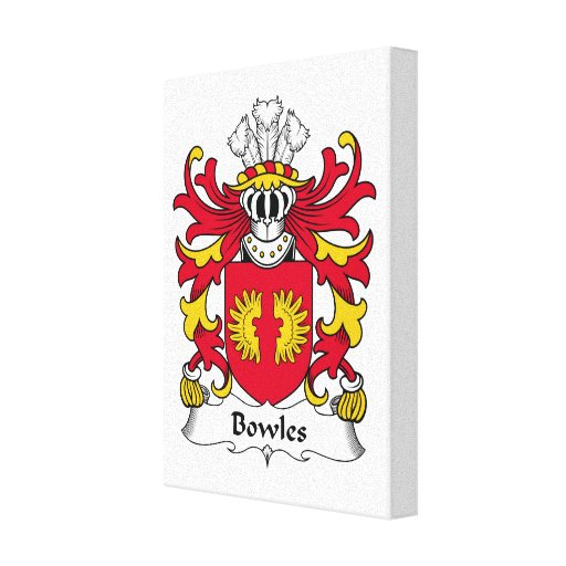 Bowles Family Crest Stretched Canvas Print