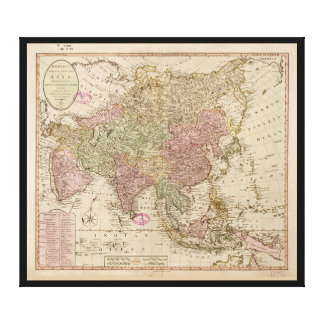 Bowle's Map of Asia (1791) Canvas Print
