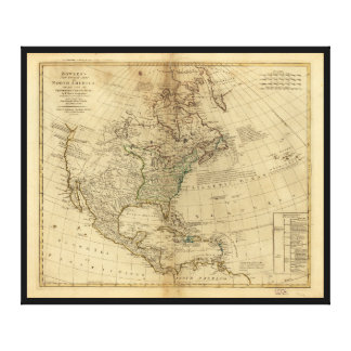 Bowles's Map of North America (1766) Canvas Print