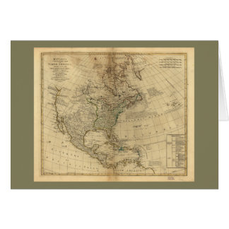 Bowles's Map of North America (1766) Card