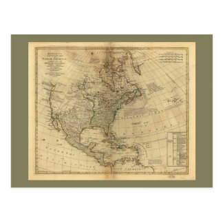 Bowles's Map of North America (1766) Postcard