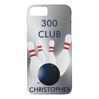 Bowling 300 Club Personalized iPhone 8/7 Case