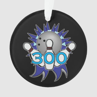 Bowling 300 Score Name and Team Ornament