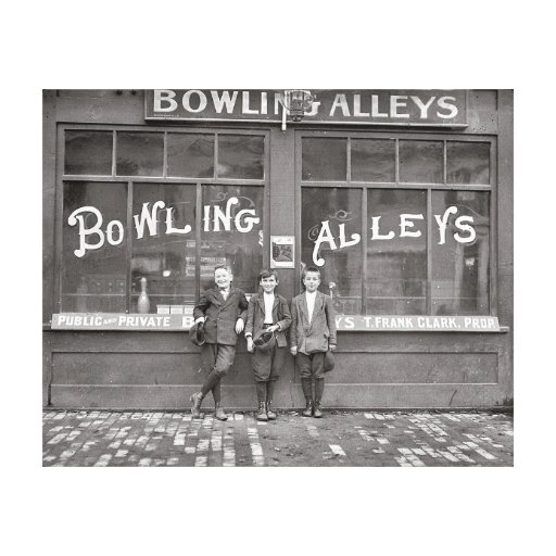 Bowling Alley, 1911 Stretched Canvas Print