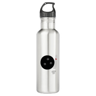 Bowling Ball and Pin Graphic 710 Ml Water Bottle