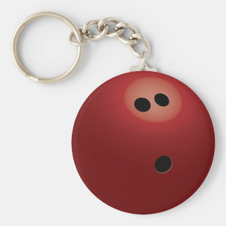 Bowling Ball Basic Round Button Key Ring