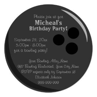 Bowling Ball Birthday Party 13 Cm X 13 Cm Square Invitation Card