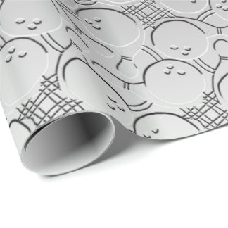 Bowling Ball Chrom Look Pattern Wrapping Paper